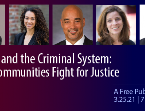 Racism and the Criminal System – Save the date: March 25th